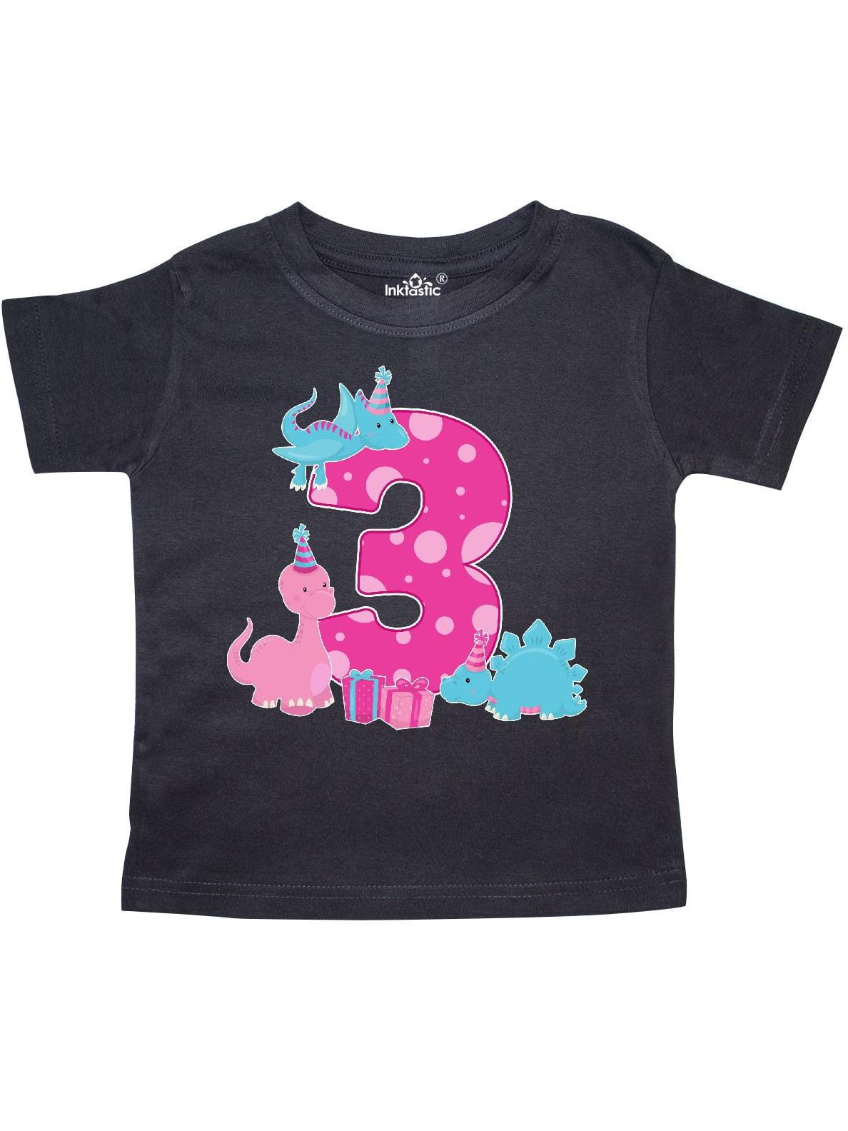 Dinosaur party-Third Birthday Toddler T-Shirt