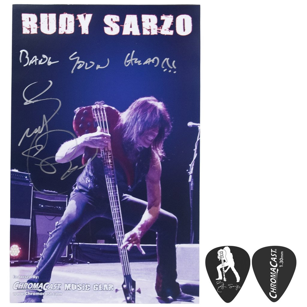Rudy Sarzo Autographed Poster Pack & Signature Guitar Pick Pack