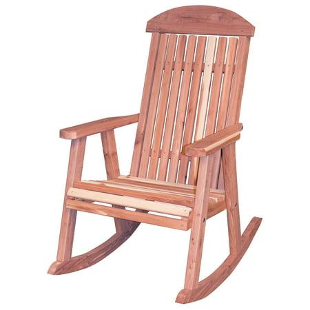 AmeriHome USA Amish Made Cedar Rocking Chair - Walmart.com