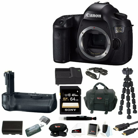 Canon EOS 5DS 50.6 MP DSLR Camera(Body) with Battery Grip and 64GB Bundle