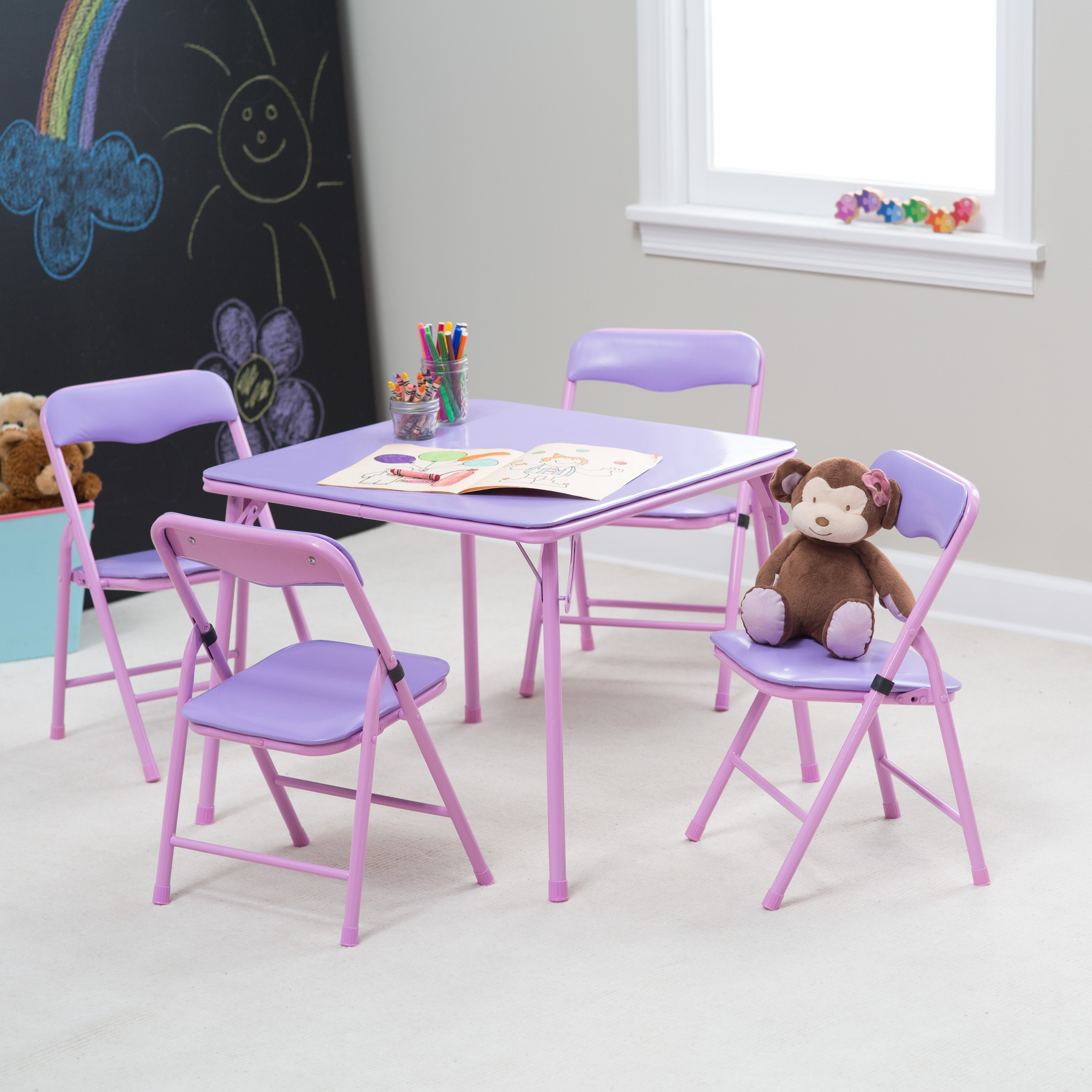 Showtime Childrens Folding Table and Chair Set - Walmart.com