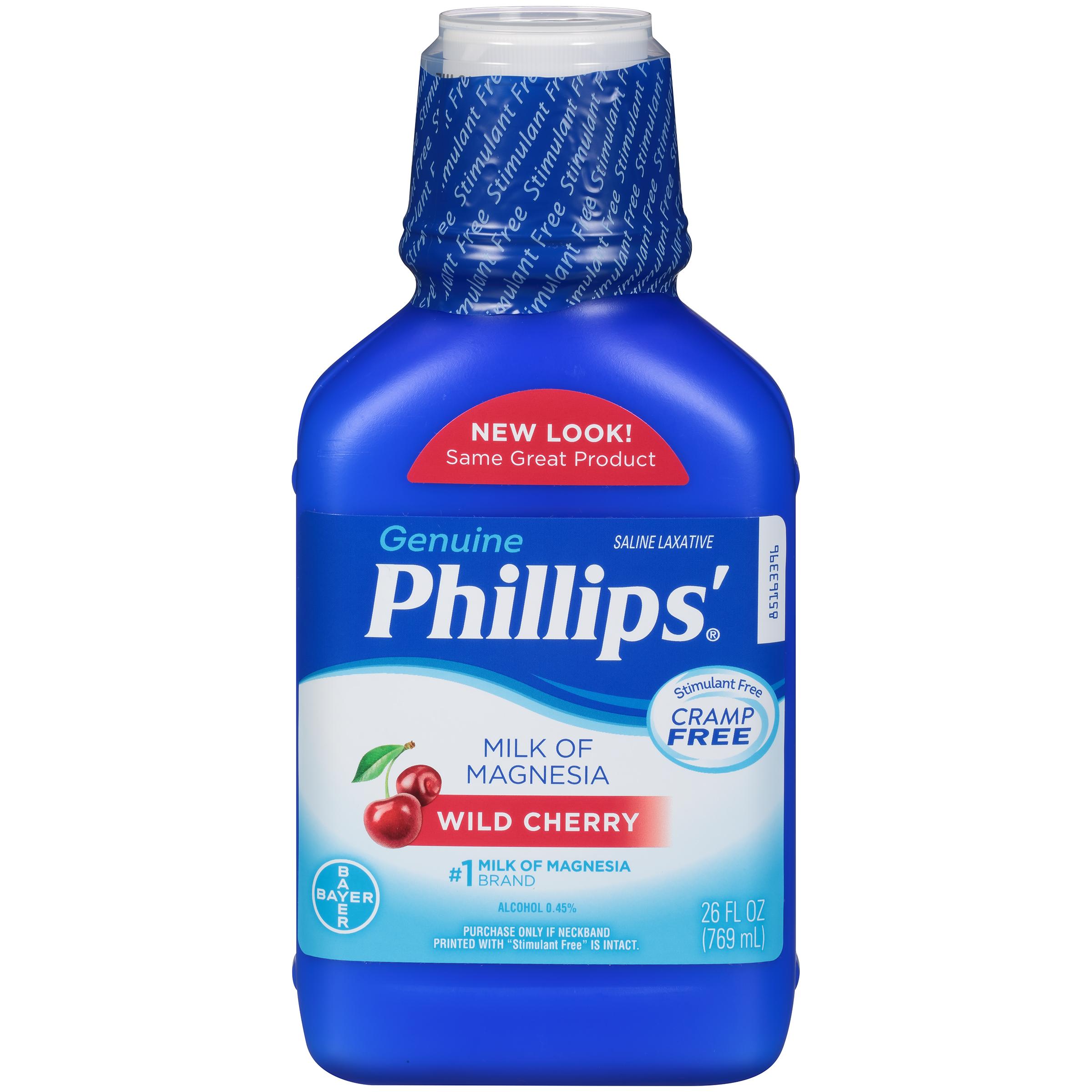 Phillips' Milk Of Magnesia Liquid Laxative, Wild Cherry, 26 Fl Oz