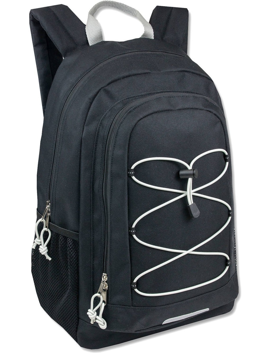 "School Backpack. This Cute Bag For Kids 19"" W  Padded Adjustable Straps (Black), Made From Durable Polyester Bungee... by"