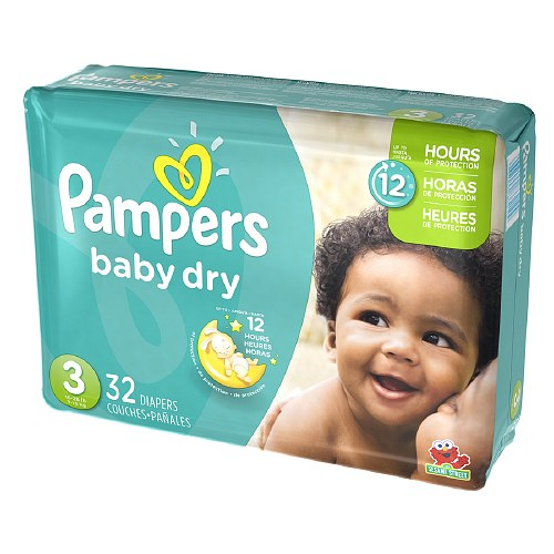 Pampers Baby Dry Diapers Size 3 Jumbo Pack 32 Ea   4 Ea by Pampers Baby Diapers