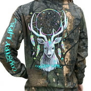 Country Life Dream Catcher Deer Tree Camo Long Sleeve Shirt (Medium)