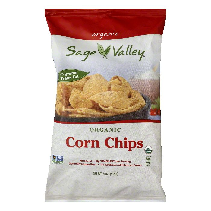 Sage Valley Organic Corn Chips, 9 Oz (Pack of 12)