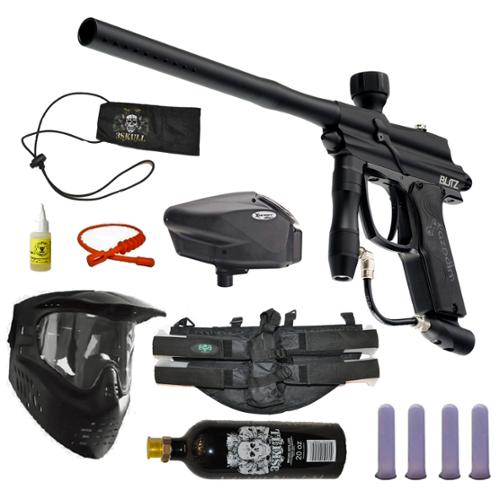 Azodin Blitz Paintball Marker Gun 3Skull 4+1 Halo Too Mega Set by