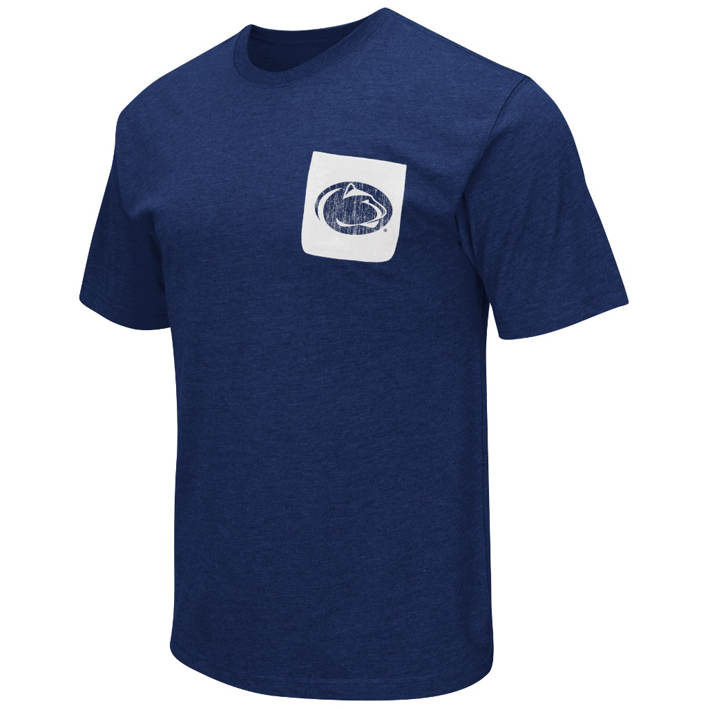 "Penn State Nittany Lions NCAA ""Banya"" Men's Dual Blend S/S Pocket T-Shirt"