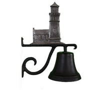Montague Metal Products CB-1-92-SI Cast Bell With Swedish Iron Cottage Lighthouse Ornament