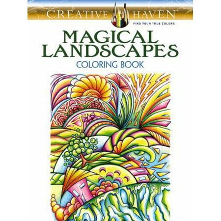 Magical Landscapes Adult Coloring Book - Walmart.com