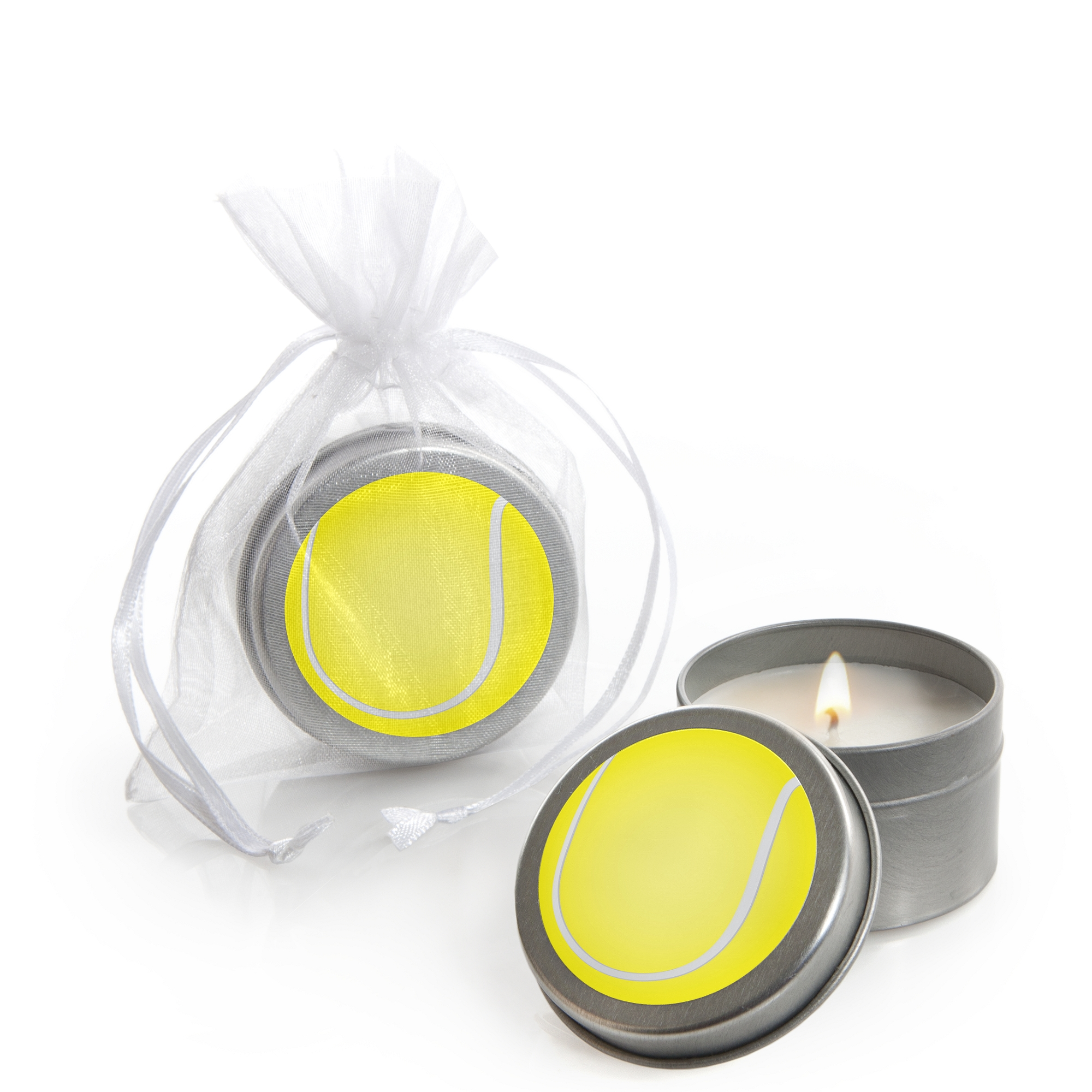 You Got Served - Tennis - Candle Tin Baby Shower or Tennis Ball Birthday Party Favors - Set of 12