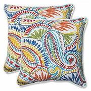 Pillow Perfect Outdoor/ Indoor Ummi Multi 18.5-inch Throw Pillow (Set of 2)