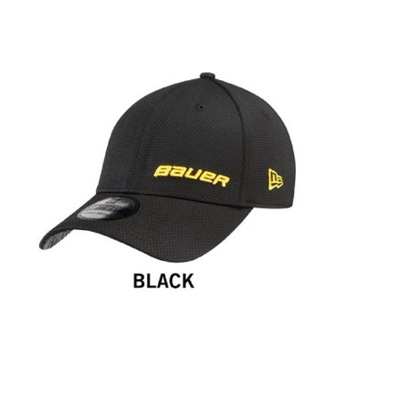 e7c20d52943c4a Bauer New Era 39THIRTY Supreme Hockey Hat Black/Yellow Logos (S/M) -  Walmart.com