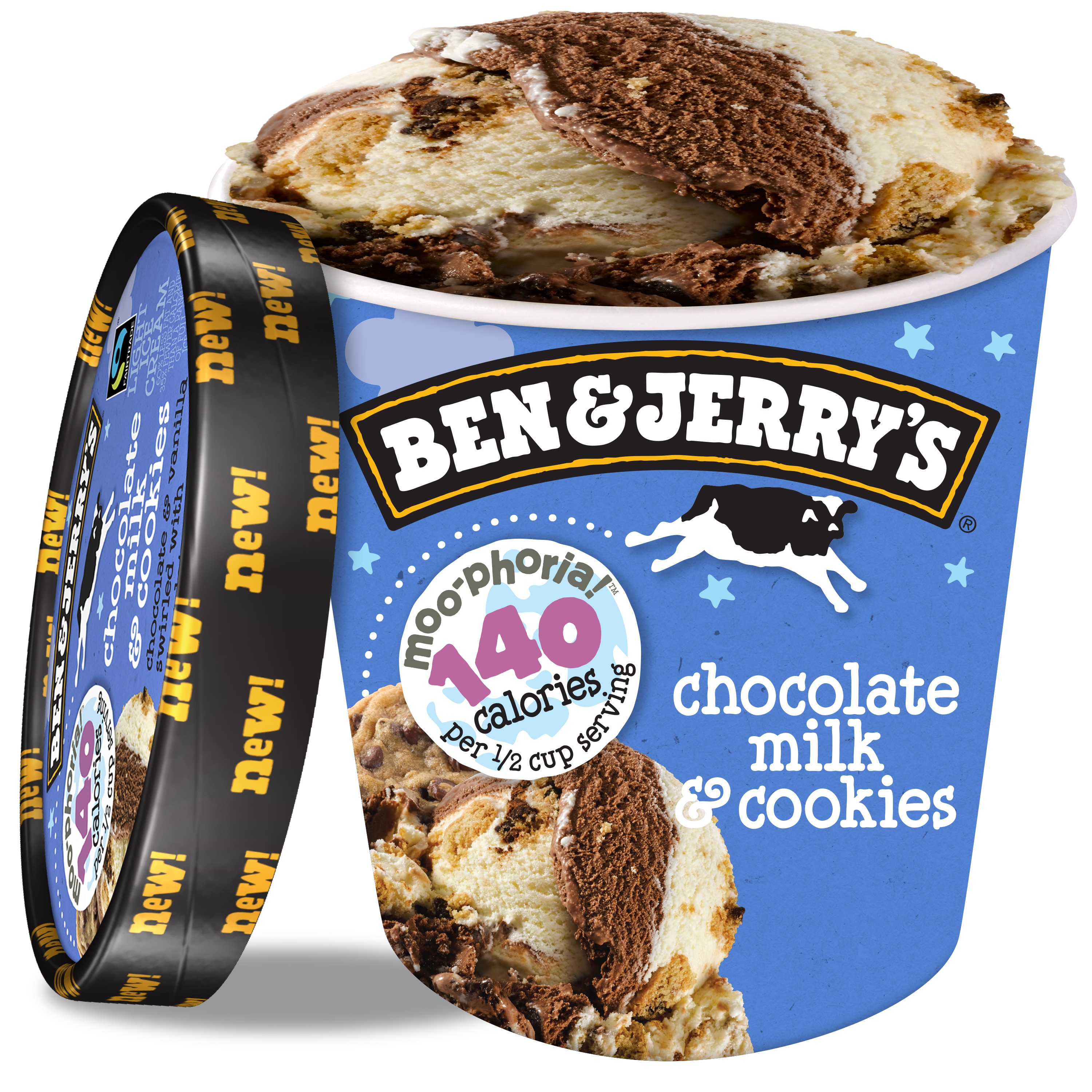Ben & Jerry's 'Moophoria Chocolate Milk & Cookies Light Ice Cream, 16 oz