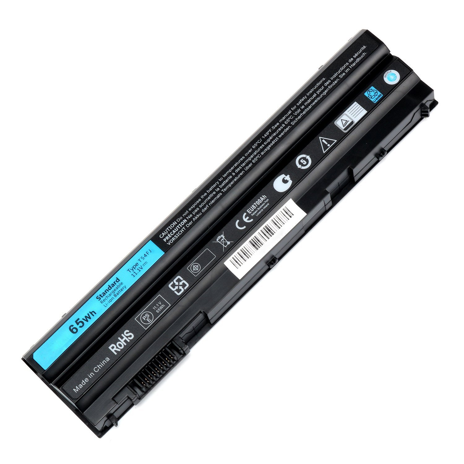 SOLICE New 11.1V 65Wh T54FJ E5520 Laptop Battery for Dell Latitude E5420 E5520 E6420 E6520 M5Y0X 312-1163 HCJWT 7FJ92--12 Months Warranty