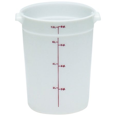 Cambro Upc800 Food Cart - Cambro Plastic Storage Round Food Container White, 8 qt. | 1/Pack