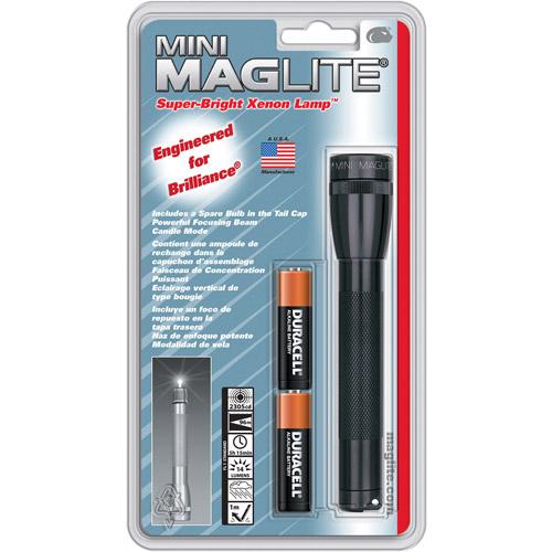 MAG Instrument AA Mini Maglite Flashlight, Black