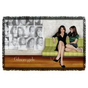 Gilmore Girls Couch Woven Throw White One Size