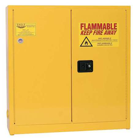 Flammable Safety Cabinet, 24 gal., Yellow EAGLE 1976