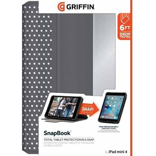 Griffin SnapBook Multi-Position Folio Case for Apple iPad mini 4, Nickel