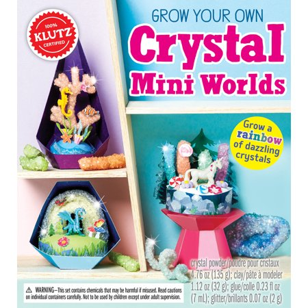 Grow Your Own Crystal Mini Worlds Book Kit-