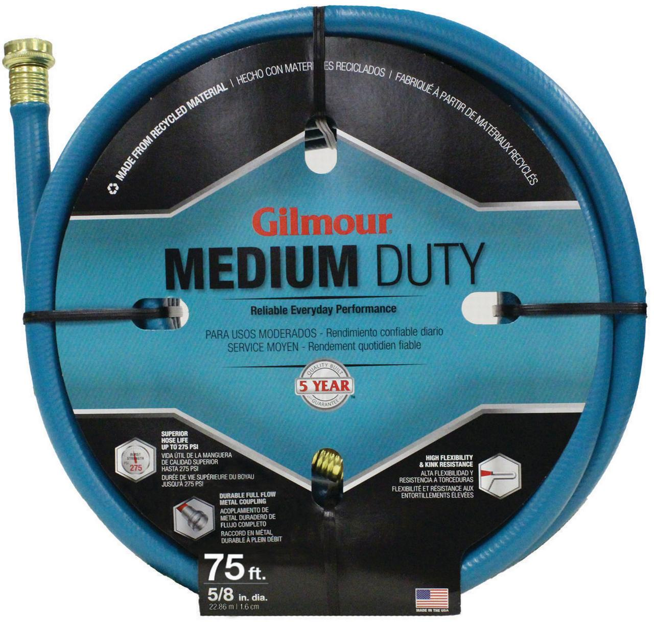Gilmour 816751-1001 5/8 in X 75' 4 Ply Medium Duty Garden Hose