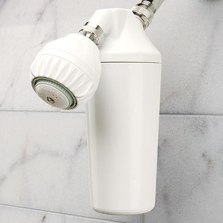 hahn shower white plastic filtration system and shower head. Black Bedroom Furniture Sets. Home Design Ideas