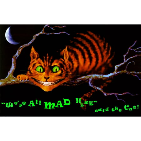 We're All Mad Here Blacklight Poster - 36x24](Blacklight Room Decor)