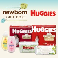 Huggies Newborn Gift Box 56 Diapers + 96 Wipes