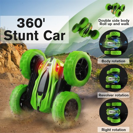 - 1/24 Scale 4WD Remote Control RC Car Truck 360° Rotation Stunt Car Christmas Toy
