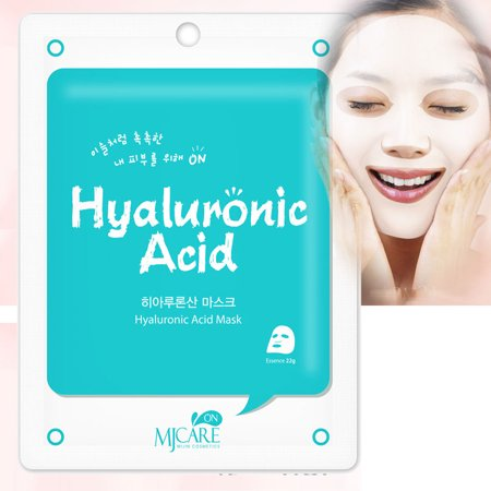 Korean Cosmetics Beauty Rejuvenating Hyaluronic Acid Premium Essence Mask Pack Sheet, Brightening Anti-wrinkle, Skin Tightening, Pack of 45