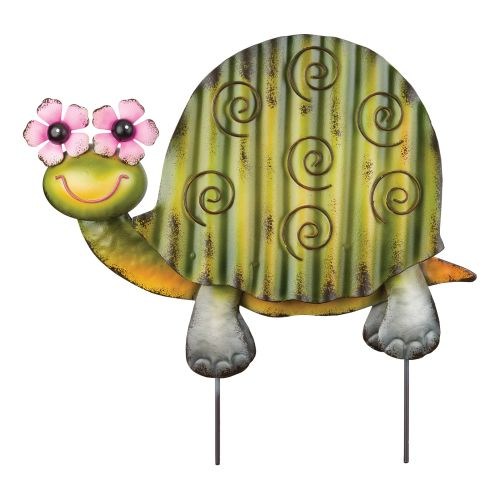 Regal Art  and  Gift 12115 - Green Turtle Groovy Garden Stake Decor