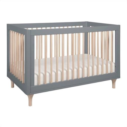 Babyletto Lolly 3-in-1 Convertible Crib in Grey and Washed Natural