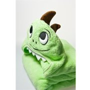 Little Ashkim HTD002 Toddler Dino Hooded Turkish Towel - Green, 2 Years-5 Years