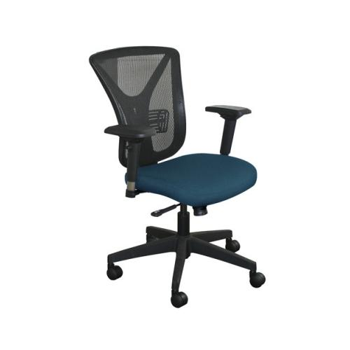 Marvel Executive Mesh Chair with Iris Fabric and Black Base MVLWMCEXFB5820