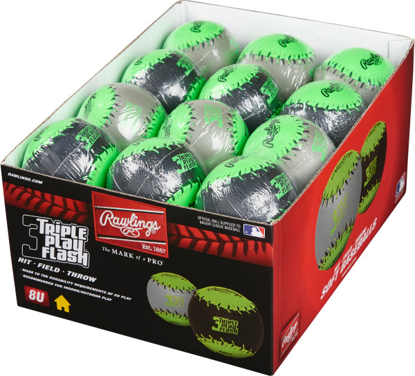 Rawlings Triple Play Soft Baseballs - 2/DZ