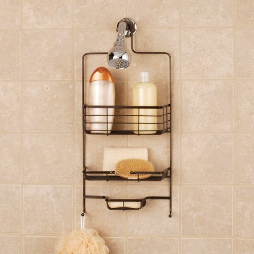 Mainstays Premium Over-the-Shower Caddy, Oil-Rubbed Bronze