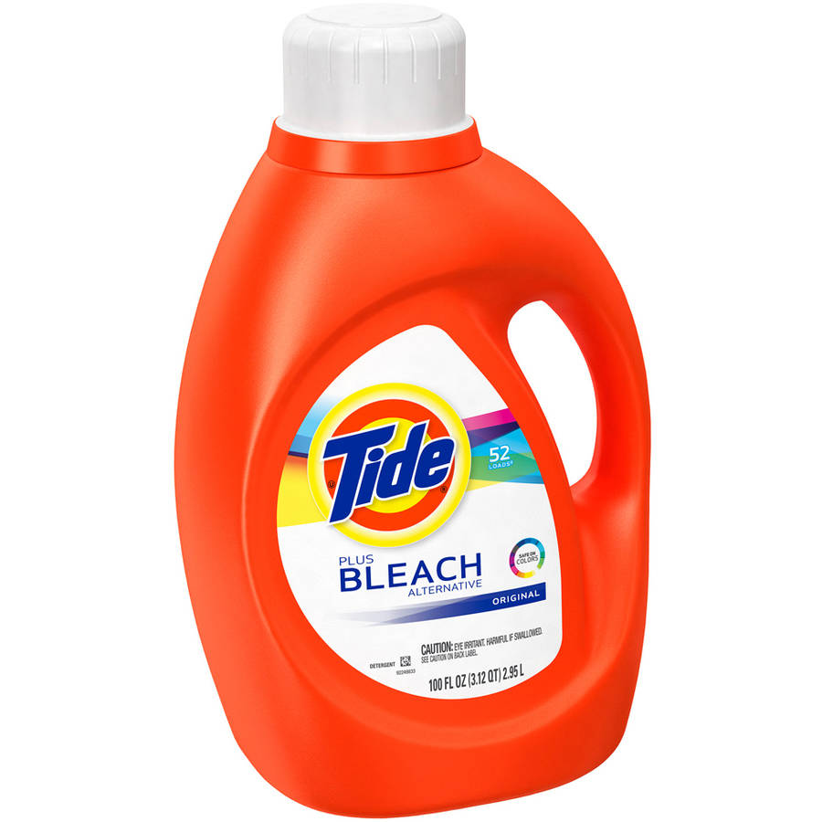 Tide Plus Bleach Alternative Original Scent Liquid Laundry Detergent, 52 Loads, 100 fl oz