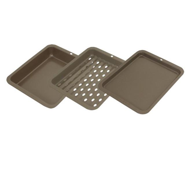 3 pc. Petite Bakeware Set Non-stick 8x10 outer by FastFood