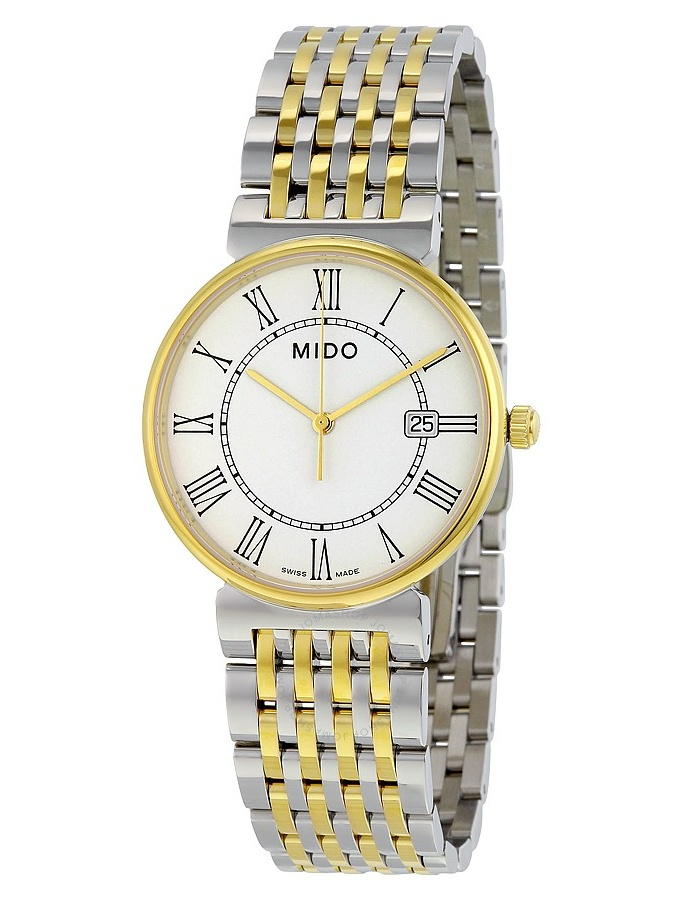 Mido Dorada White Dial Two-tone Stainless Steel Ladies Watch M11309261