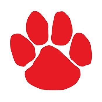 Red Paw Print Temporary Tattoo Pack