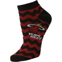 Miami Heat Women's Chevron Stripes Ankle Socks - Lad 9-11
