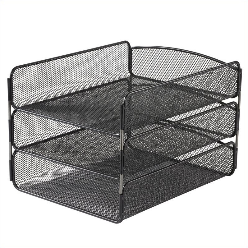 Scranton & Co Triple Tray Organizer in Black