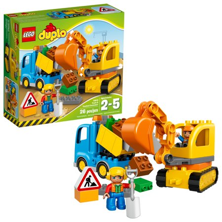 Lego Duplo Truck Tracked Excavator Building Set 10812 Walmart