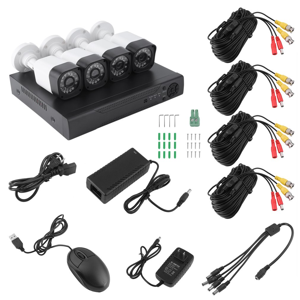 1080P Home Security Recording Camera Monitor System DVR 4...