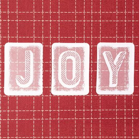 - Idea-Ology Transparent Alpha Tiles 48/Pkg-Christmas, White 1.25