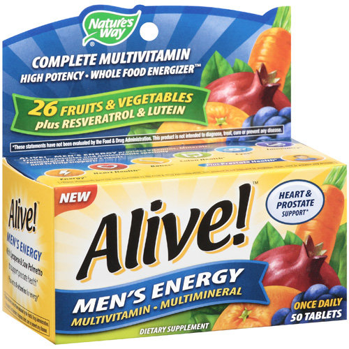 Nature's Way Alive! Men's Energy Tablets Multivitamin/Multimineral Supplement, 50ct