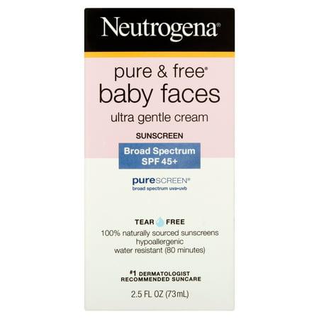 Neutrogena Pure & gratuit Baby Faces Ultra douce crème solaire à large spectre SPF oz de 45 ans
