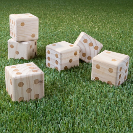 Giant Wooden Yard Dice Outdoor Lawn Game by Hey! - Outdoor Games For Toddlers