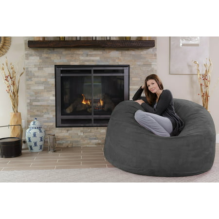 Superb Chill Sack 5 Ft Bean Bag Chair Multiple Colors Fabrics Andrewgaddart Wooden Chair Designs For Living Room Andrewgaddartcom